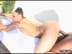 Juicy candy girl outdoor fucking