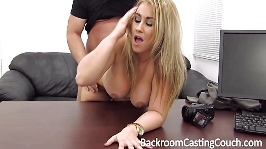 Busty Blonde Rides Cock
