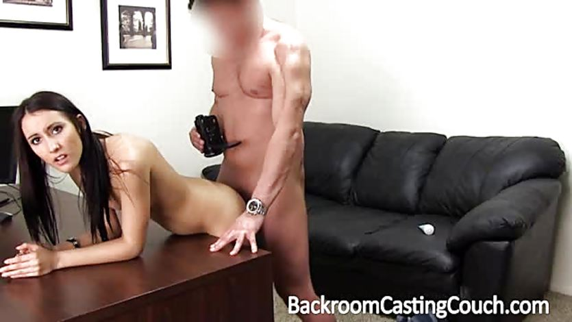Brunette Dee Hot Fucking On Backroom Casting Couch -2297