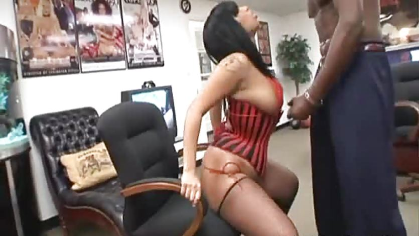 Tia cherry fucked by huge black dong