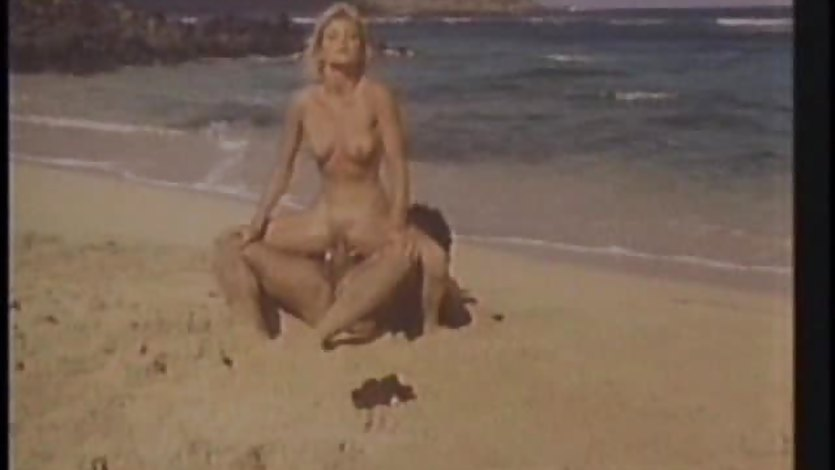 Naughty babe Ginger Lynn fucked on the beach