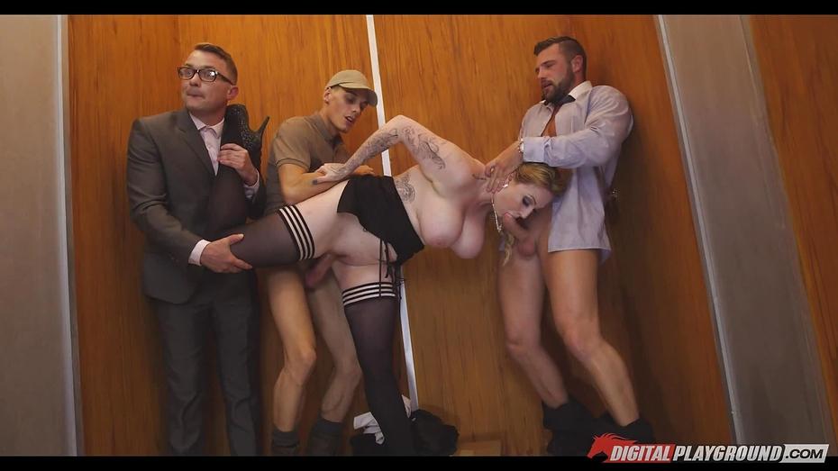 Любовь в лифте порно с рус переводом, порно точило видео