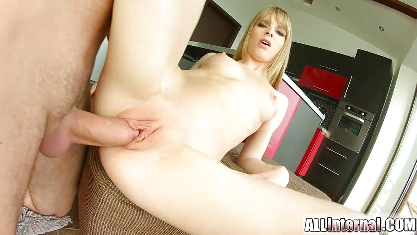 All internal shy newcomer gets pussy injected with cum 9