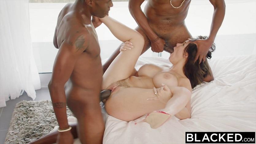 BLACKED Wife Peta Jensen Cheats With Two Guys | PornerBros