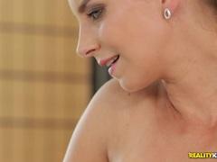 Stunning Katerina David slurps on dick