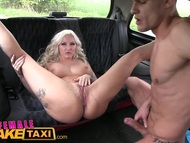 Female fake taxi blonde fucks her great dicked passenger | Big Boobs Update