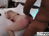 Hardcore booty interracial screwing with leya falcon