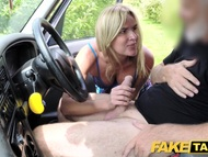 Beautiful fake taxi mum with natural natural tits gets voluminous british penish
