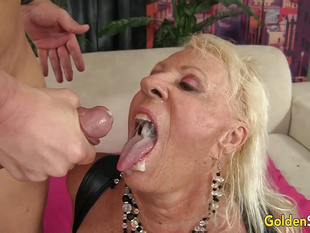 Floppy Titted Granny Fucks a Bald Dude