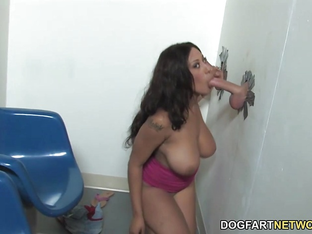 Busty London Reigns Fucked At Gloryhole