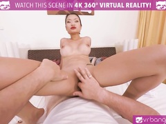 Sexy Asian is getting fucked hard by a big cock