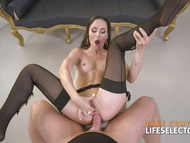 Lilu Moon in sexy lingerire gets tremendous fucked in the ass