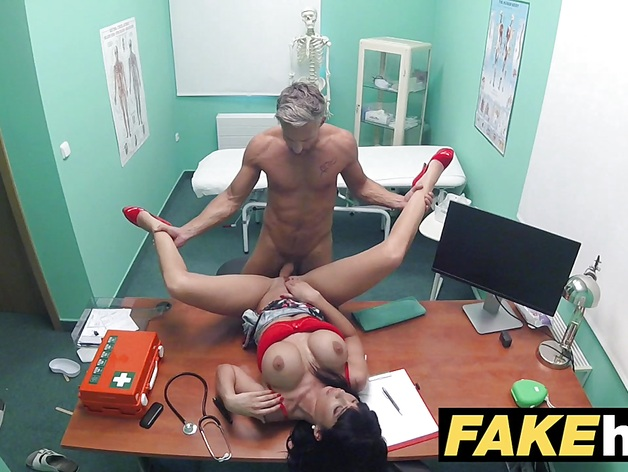 Fake doctor fuck sexy mature in toilet room blowjob and fucking