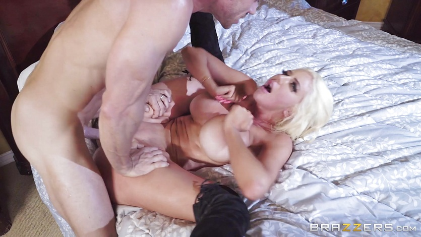 Sexy busty Nicolette Shea banged balls deep