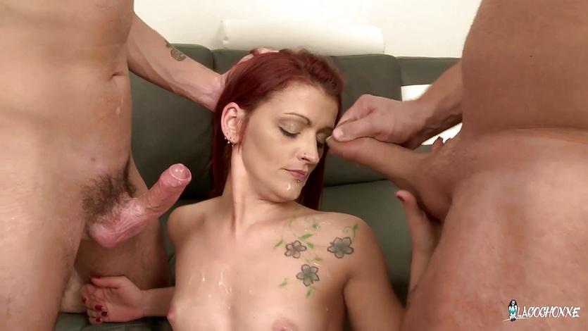 mmf-redhead-video-blowjob-woman-sucking-foreskin-porn
