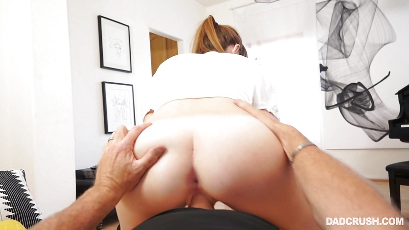 Hottie Miley Cole pov style cock pleasuring her stepdad