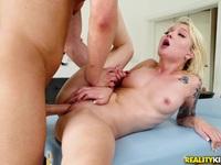 Poking cock into Dakota Skye on the massage bed Dakota SkyeSeth Gamble | Porn-Update.com