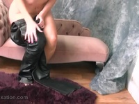 Naked babe with hot anatomy puts on hot tight leather pants Ex Girlfriend | Porn-Update.com