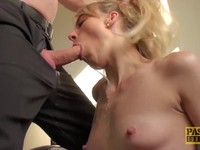 Pretty Brit MILF swallows warm cumshot of her cock master Ex Girlfriend | Porn-Update.com