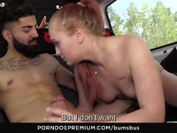 BUMS BUS Wild chick purged with cock in a van Ex Girlfriend