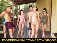 CROWD BONDAGE Outdoor pool sex for libidinous Loren Minardi Loren Minardi | Porn-Update.com
