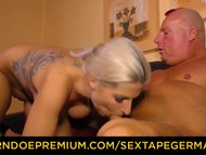 Sextape germany spunking on tits for luscious chick