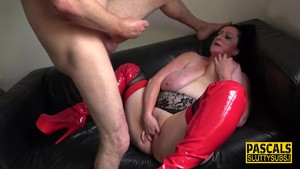 Tied up real sub squirting hard