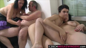 Sweet Threesome Fucking at Private Home Party