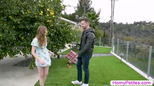Petite Ava Parker banged by her neighbor