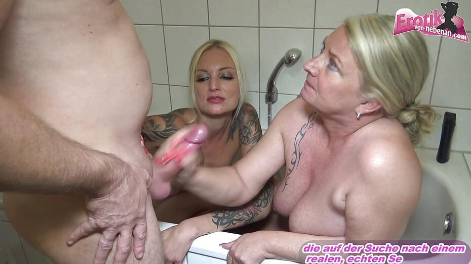Hot lesbians using dildo